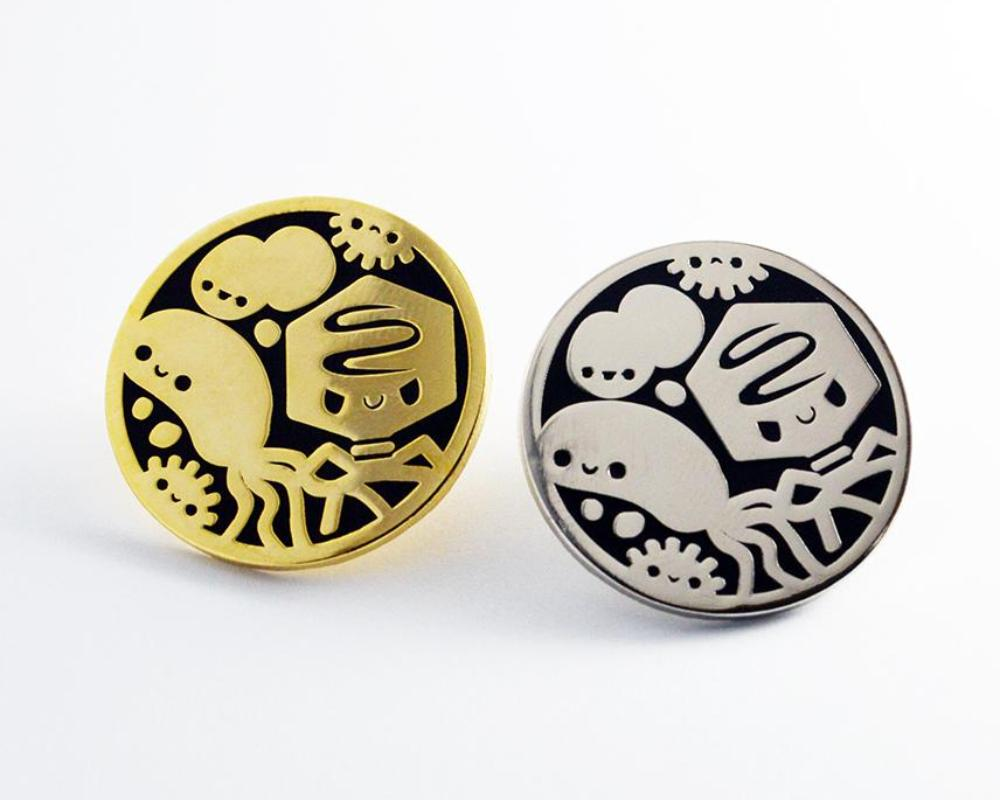 Enamel Pin, Microbiology Pin, Biology Gift, Virus Pin, Bacteria Pin, Microbe Pin, Science Pin, Biology Pin, Graduation Gift, Biology Enamel pin, Science Enamel Pin, Gold Enamel Pin, Silver Enamel Pin - roocharms