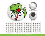 Medical Lab Animal Buttons or Magnets