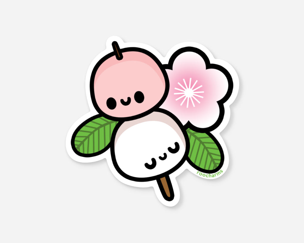 mochi sticker stickers cute food vinyl decal pancake stationery foodie gift