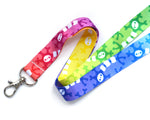 Rainbow Neuron Lanyard