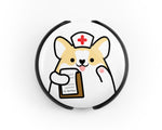 Nurse Stethoscope Tag, Doctor Stethoscope Tag, Corgi Stethoscope Tag, Veterinarian Stethoscope Tag, Cute Stethoscope Tag, Nurse Gift, Doctor Gift, Veterinarian Gift - roocharms