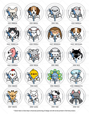 Pipette Animals Interchangeable Charm