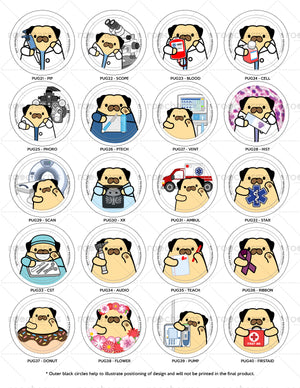 Pug Badge Reel
