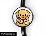 Retriever Stethoscope Tag, Veterinarian Gift, Nurse Gift, Doctor Gift, Cute Stethoscope Tag, Dog Lover Gift, Healthcare Gift, Nursing Student Gift, Medical Student Gift - roocharms