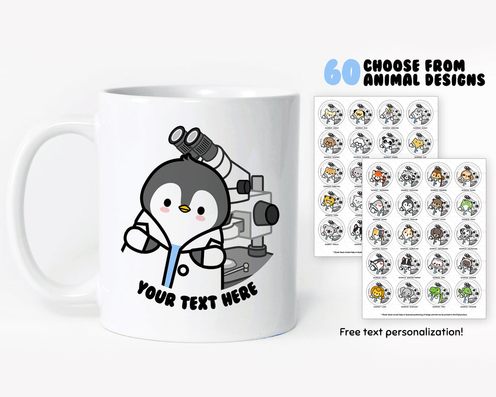 Microscope Animals Coffee Mug