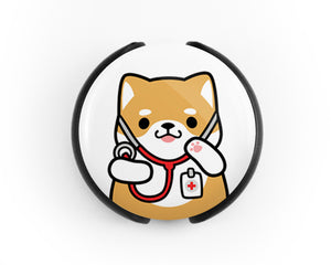 Shiba Inu Stethoscope Tag, Doctor Stethoscope Tag, Nurse Stethoscope Tag, Steth Tag, Veterinarian Stethoscope Tag, Nurse Gift, Doctor Gift, Veterinarian Gift - roocharms