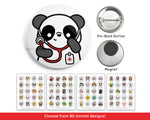 Stethoscope Animal Buttons or Magnets