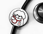 Maltese Stethoscope Tag, Veterinarian Stethoscope Tag, Veterinarian Gift, Dog Stethoscope Tag, Nurse Gift, Doctor Gift, Student Gift - roocharms