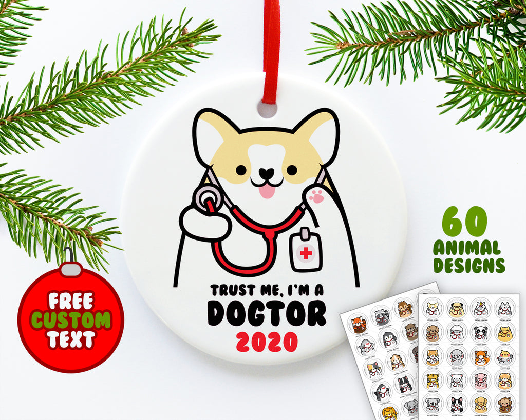 Stethoscope Animals Ornament