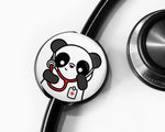 Panda Stethoscope Tag, Pediatric Nurse Gift, Cute Stethoscope Tag, Doctor Gift, Medical Student Gift, Nursing Student Gift - roocharms