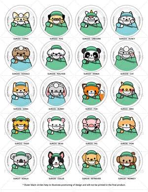 Surgery Animals Interchangeable Charm