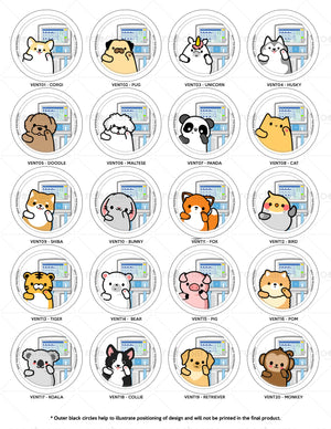 Ventilator Animals Interchangeable Charm