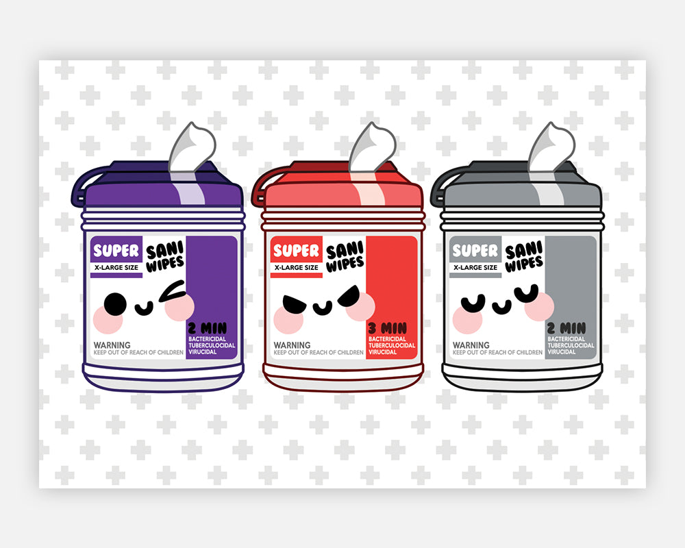 Purple Wipe Stationery Set