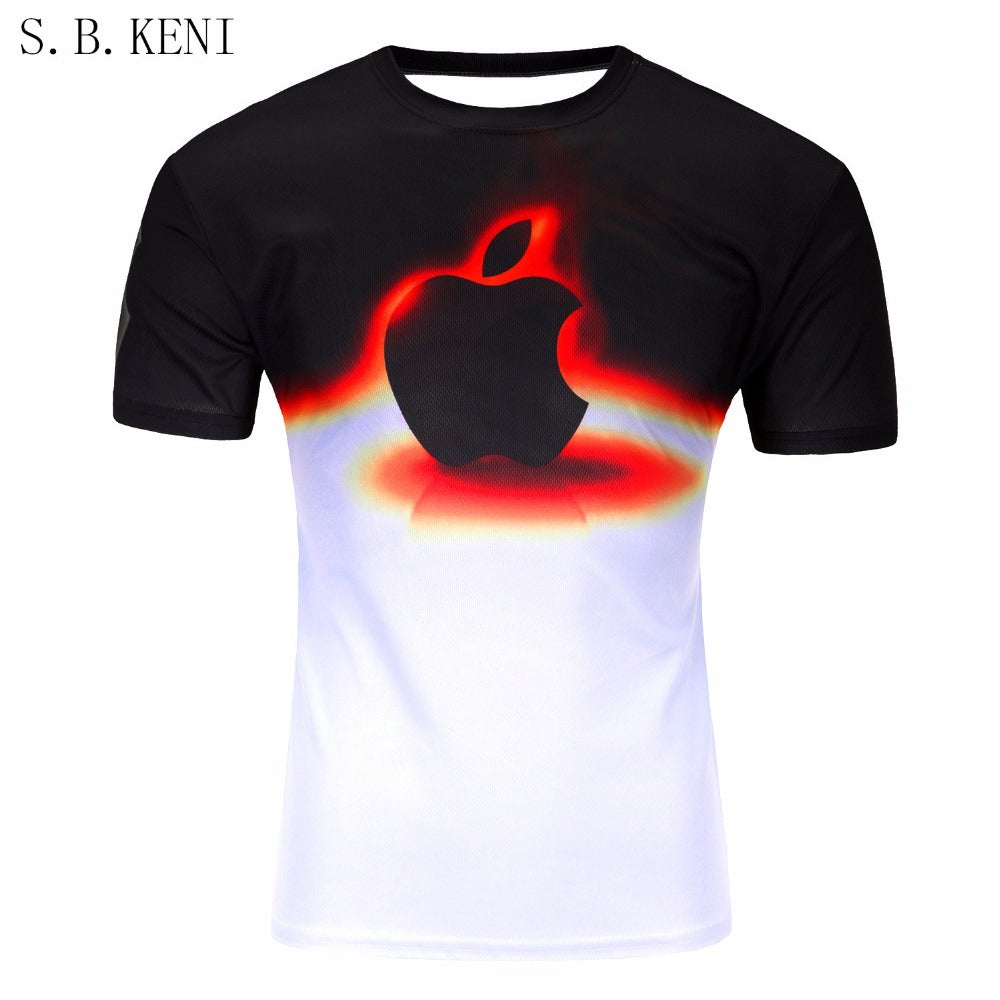 NEW COOL HOT SELLING MEN's 3D DESIGNS Tee Shirt (Free Shipping)