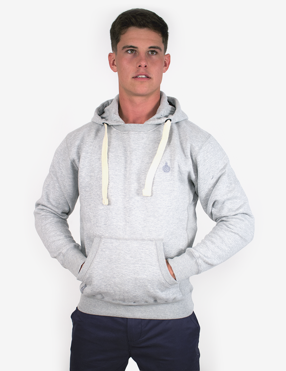 Royal Crew Neck Hoodie - Grey
