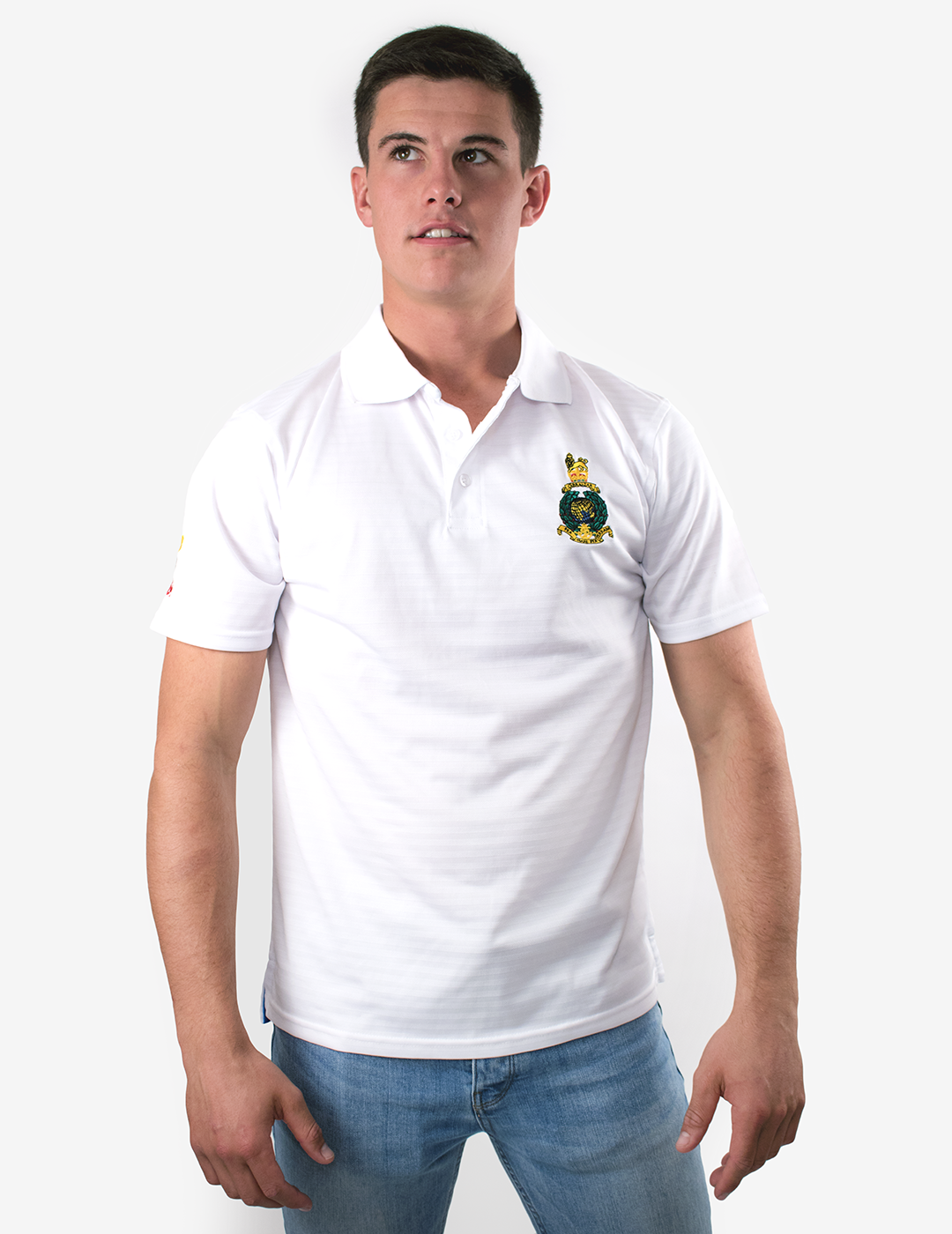Royal Marines Golf Polo Shirt - White