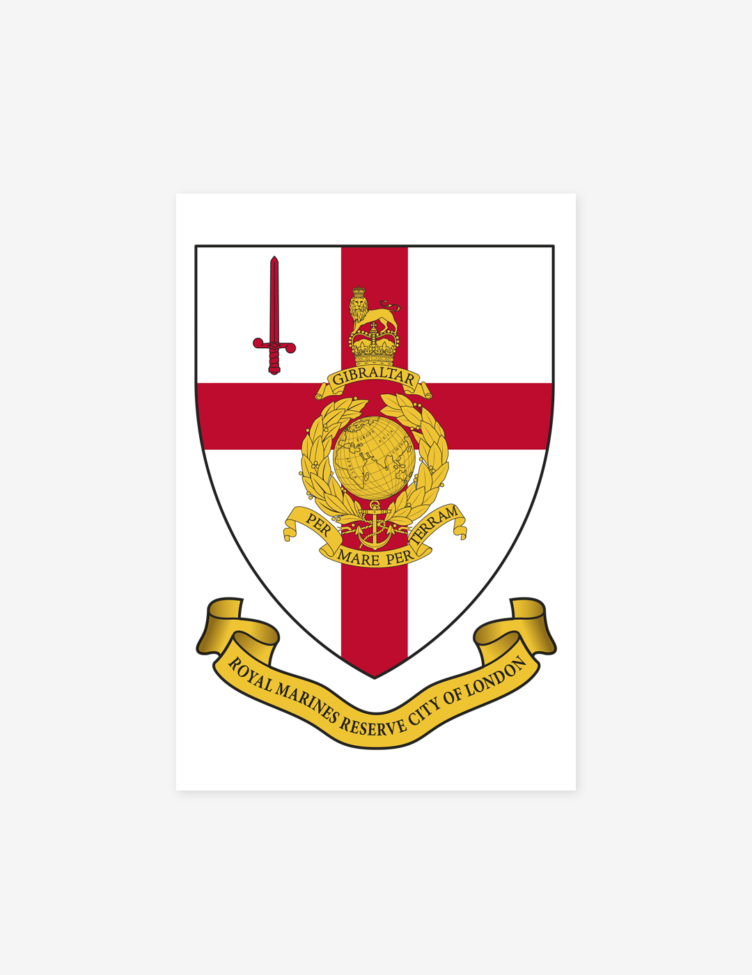 Royal Marines Reserve London Magnet