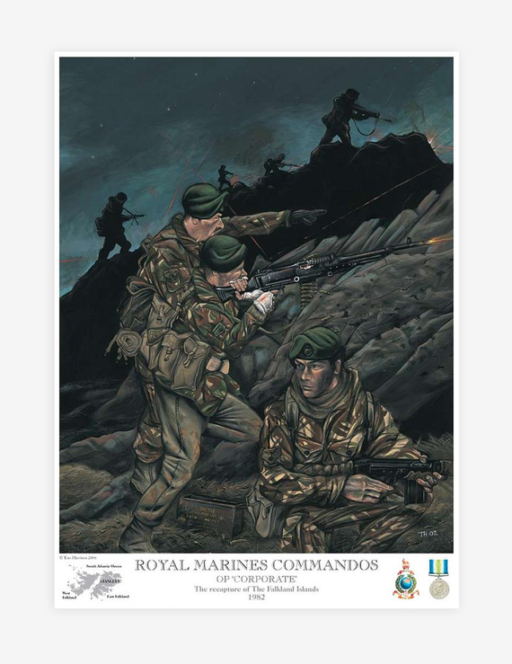 ROYAL MARINES COMMANDOS Op 'Corporate' by Tom Harrison (Prints)