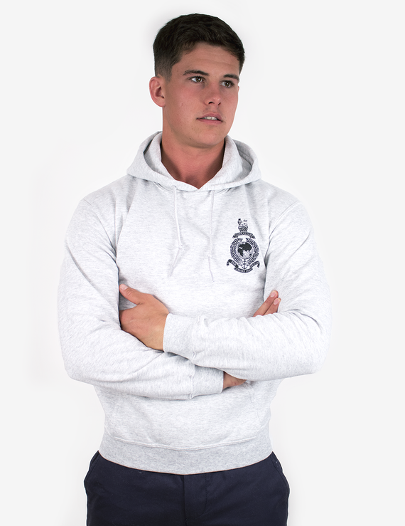 Basic Royal Marines Hoodie - Grey