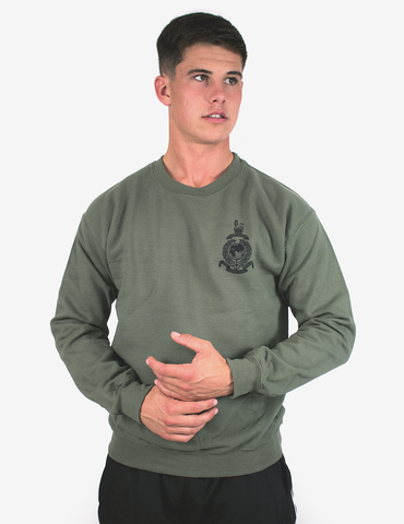 Royal Marines Commando Olive Green Cotton Mix Pre Shrunk Hoodie Double Sided