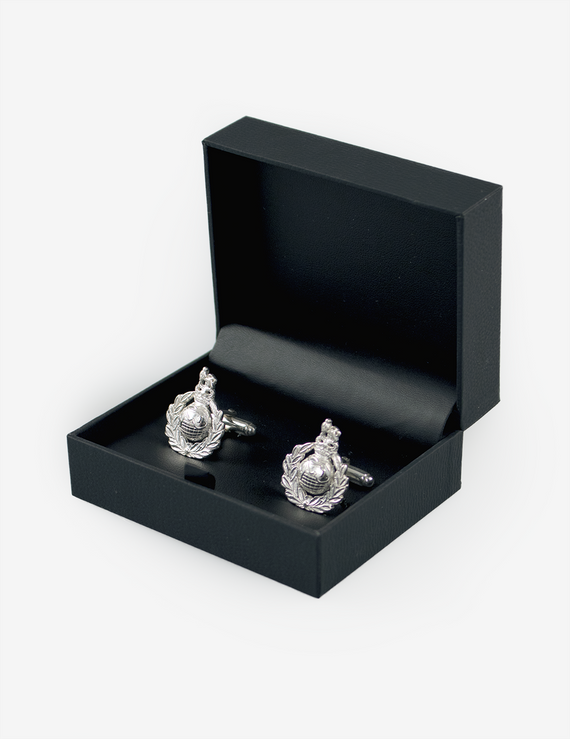 Royal Marines Silver Corps Crest Cufflinks
