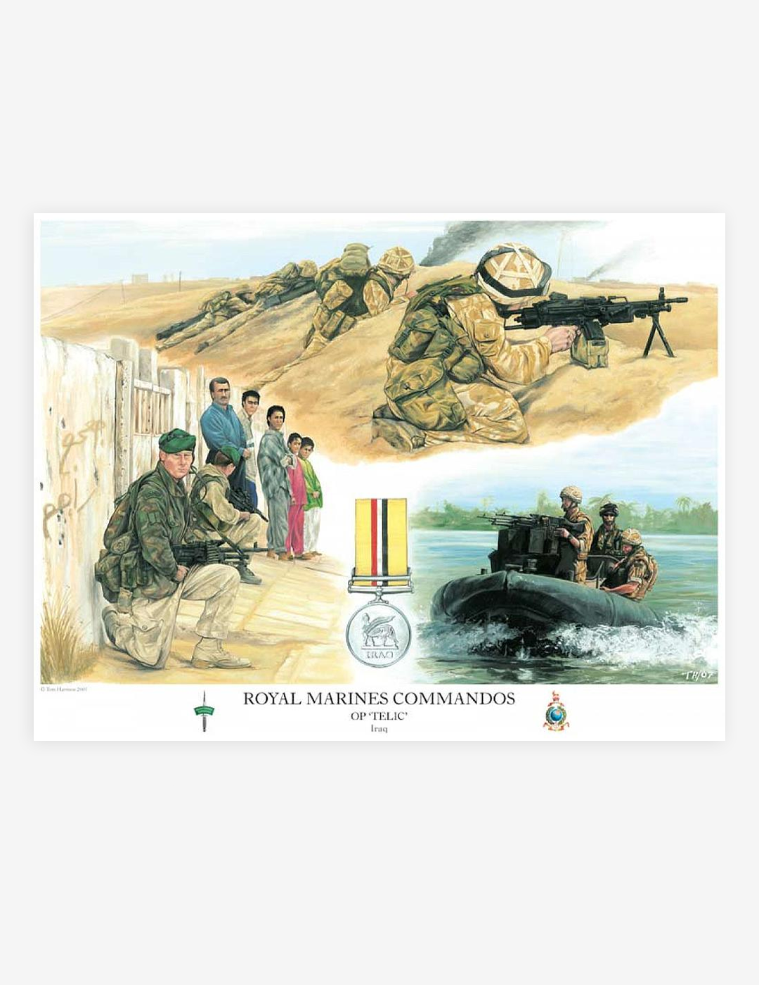 ROYAL MARINES COMMANDOS Op 'Telic' by Tom Harrison (Prints)