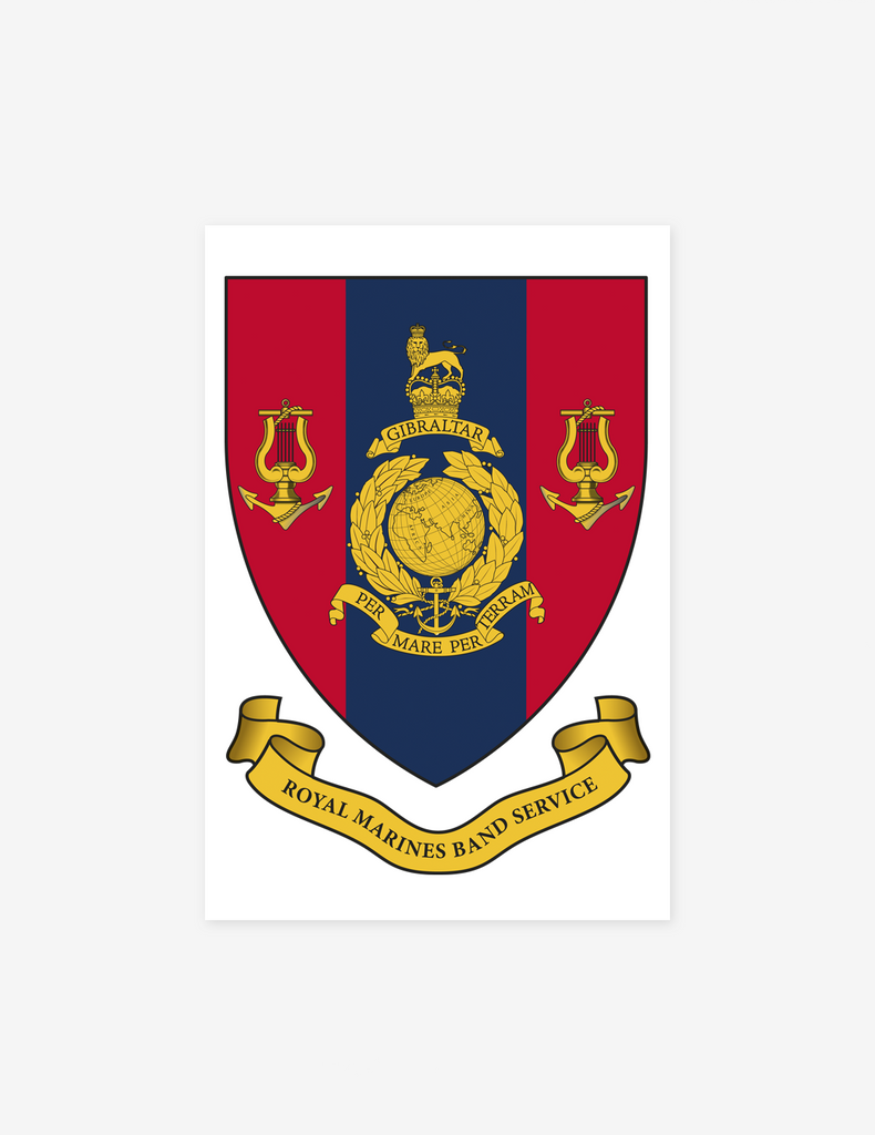 Royal Marines Band Service Shield Magnet