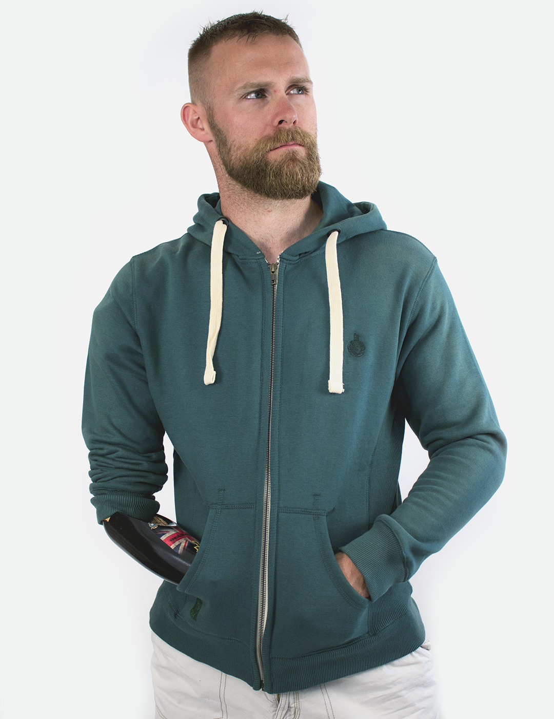 Royal Full Zip Hoodie - Green