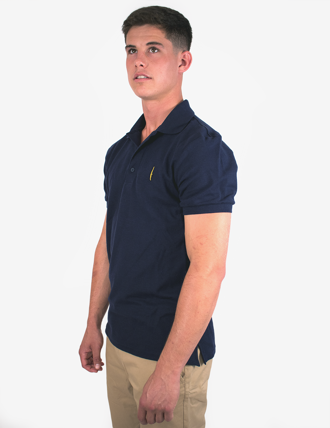 Commando Dagger Polo Shirt - Gold Embroidery