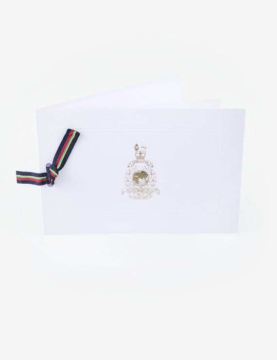 Deluxe Corps Ribbon Christmas Cards