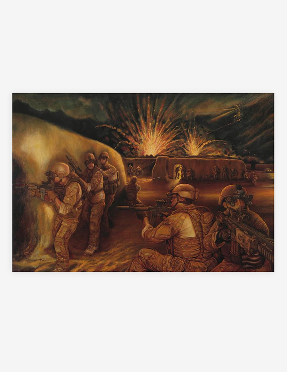 COMPOUND ASSAULT Afghanistan by Tom Harrison (Prints)