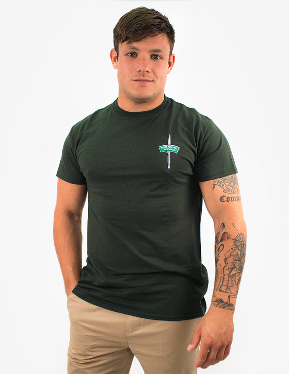 Basic Royal Marines Commando Dagger and Flash T-Shirt