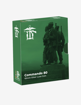 Pre Order Commando 80 Silver Plated Commemorative 65mm Luxe Coin