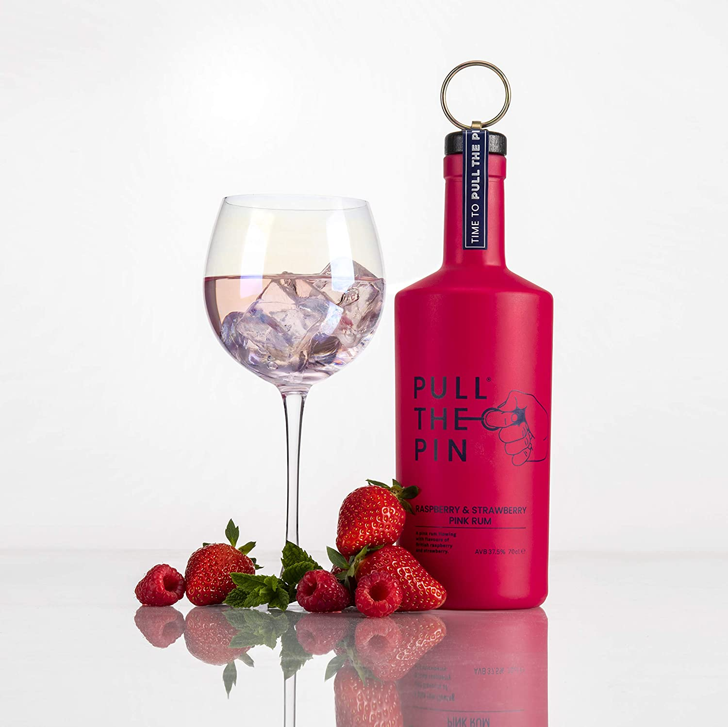 Pull The Pin Rum - Raspberry & Strawberry Pink Rum 70cl