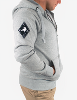 *PRE ORDER* Reorg Screaming Skull Full Zip Hoodie - GREY