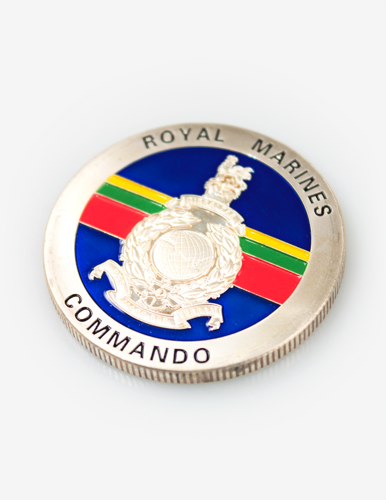 Royal Marines Combined Operations Challenge Coin