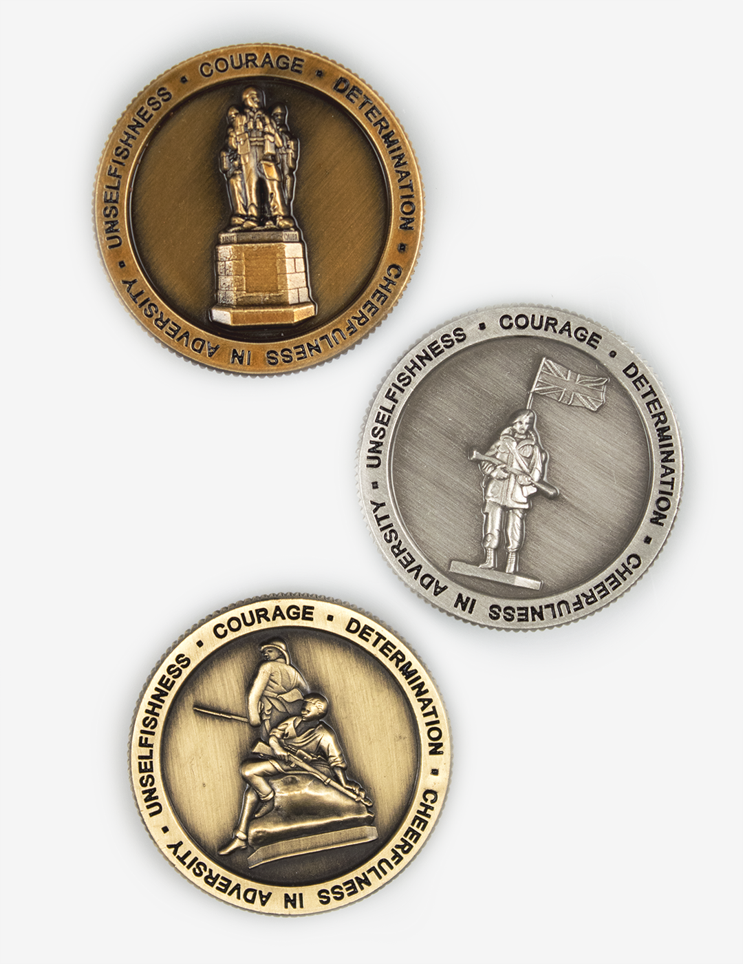 Royal Marines 3 Statue Spoof Coins Set