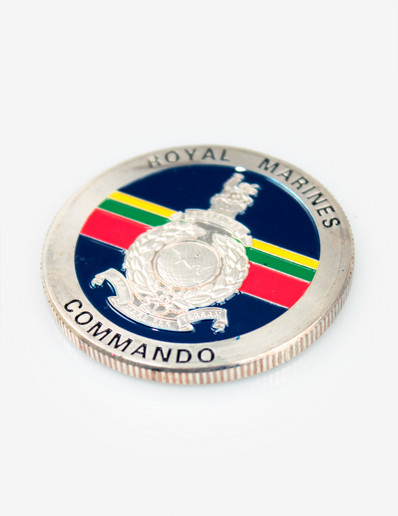 45 Commando Royal Marines Challenge Coin