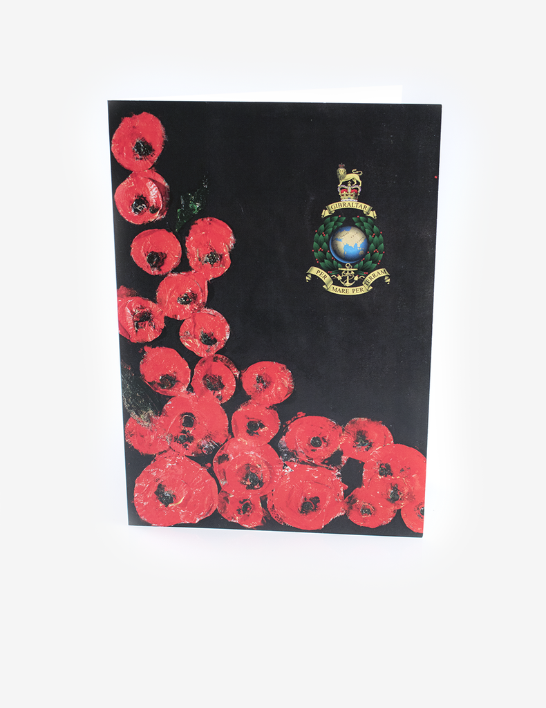 Poppies & Corps Crest Greeting Card - Annie Fennymore