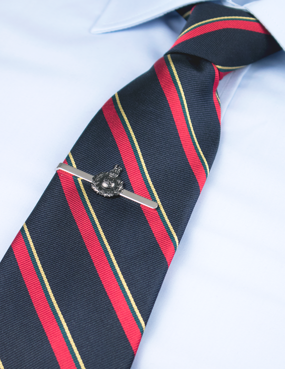 Royal Marines Globe & Laurel Tie Bar - Dark