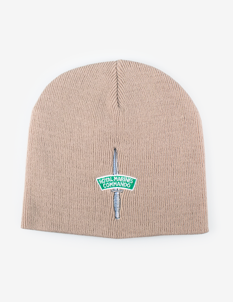 Royal Marines Commando Dagger & Flash Beanie - Sand