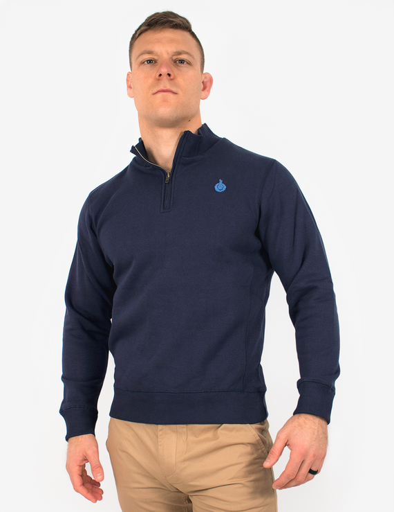 Royal Quarter Zip Top - Navy