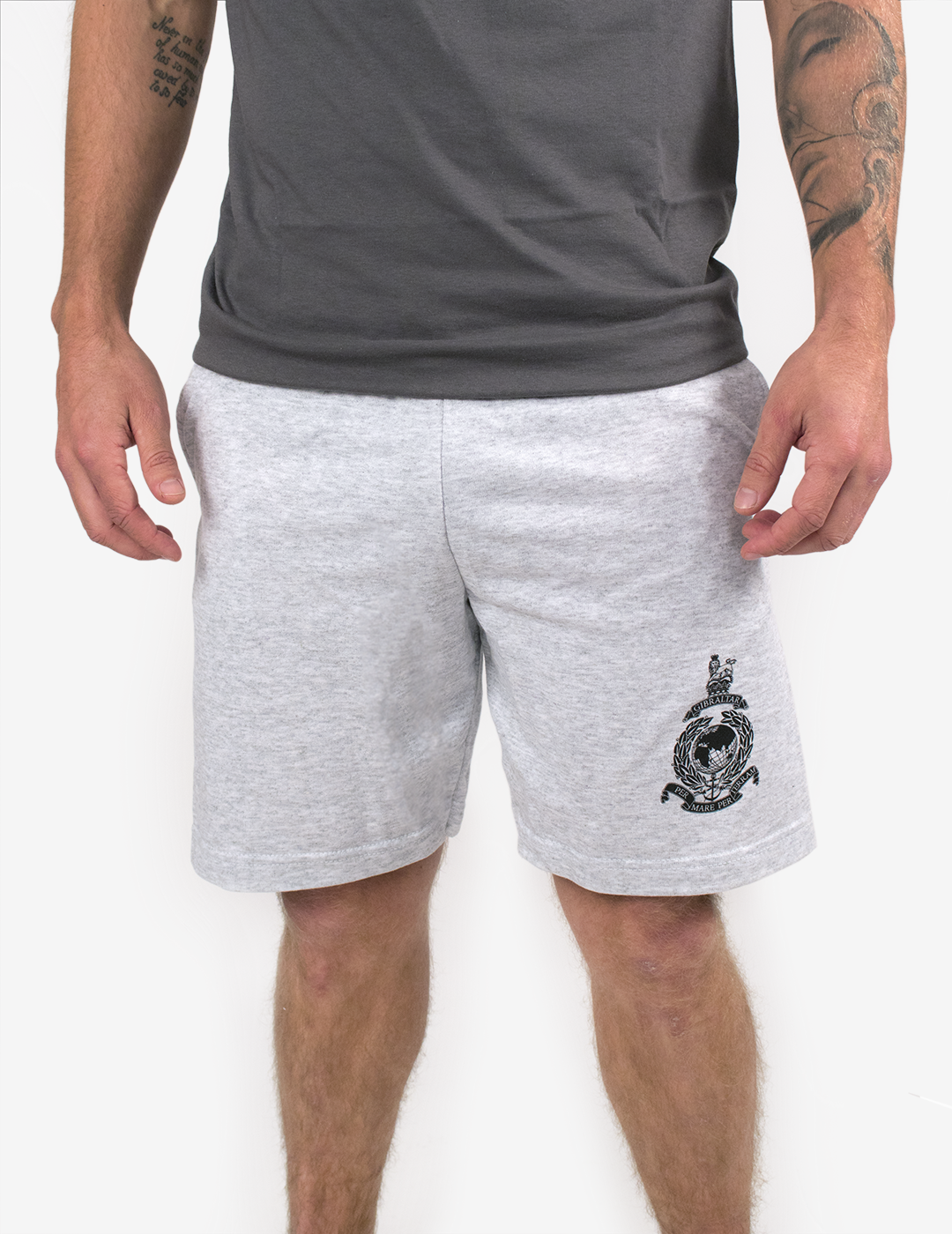 Basic Royal Marines Sweat Shorts - Grey