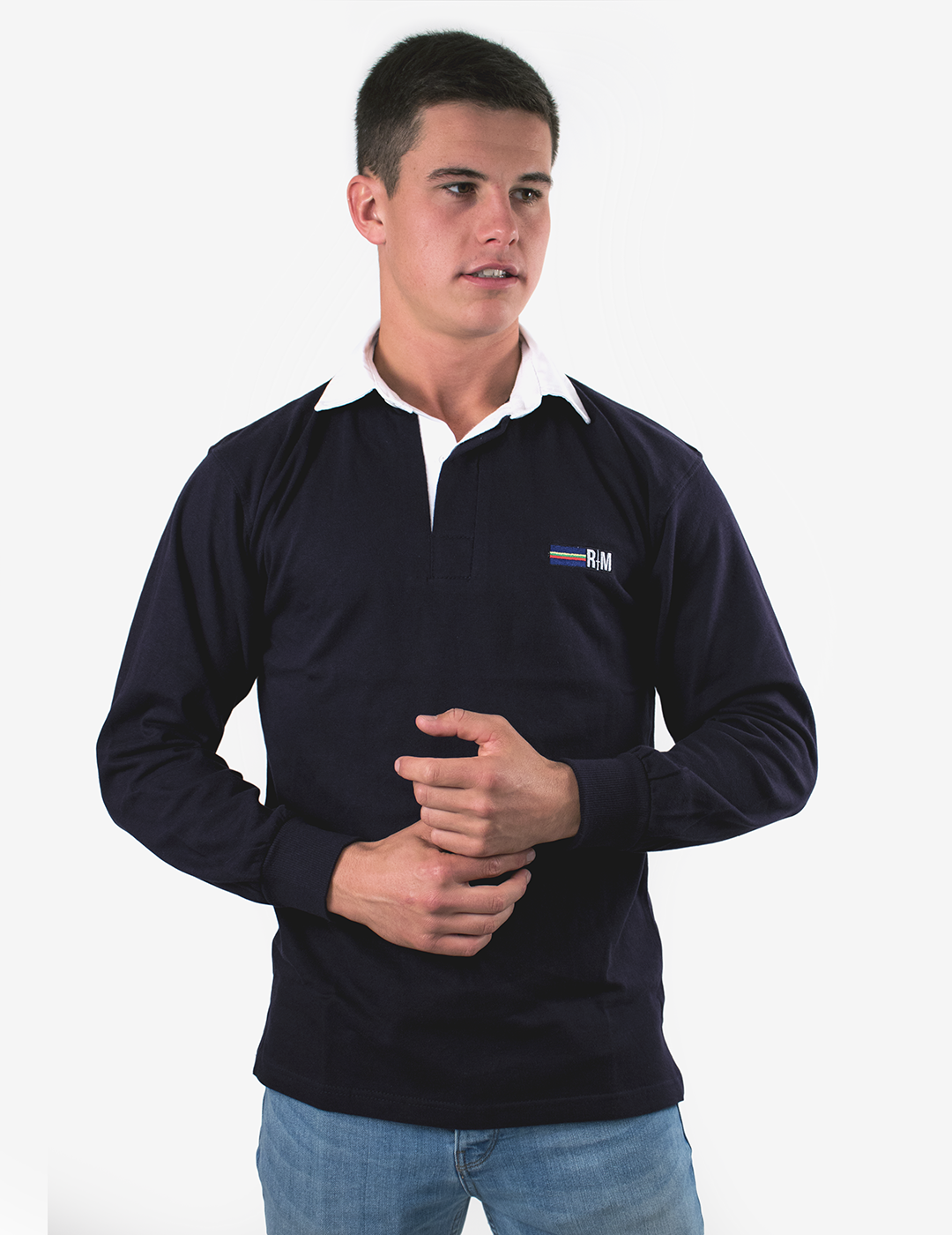 RM Long Sleeve Rugby Shirt - Navy