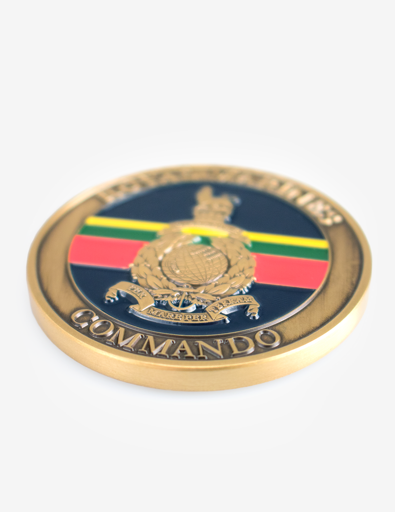 Royal Marines Enamelled Coin