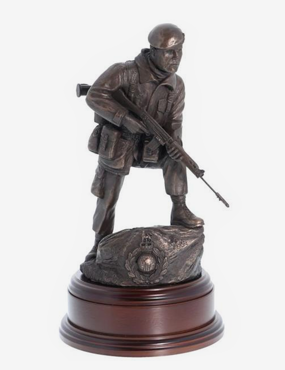 Royal Marines Commando Alert With SLR - Bronze