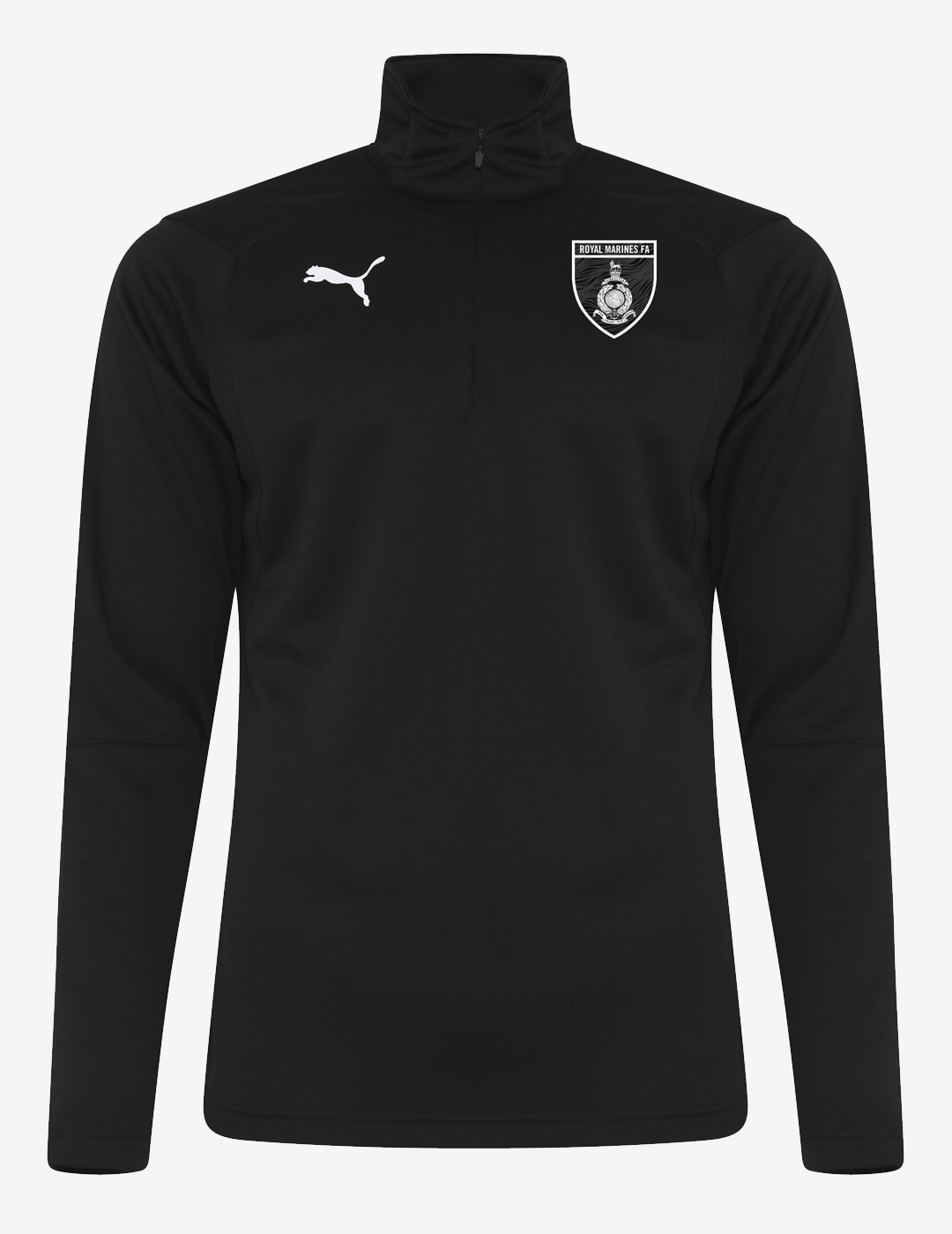 Royal Marines FA PUMA Liga Football ¼ Zip Top - Black
