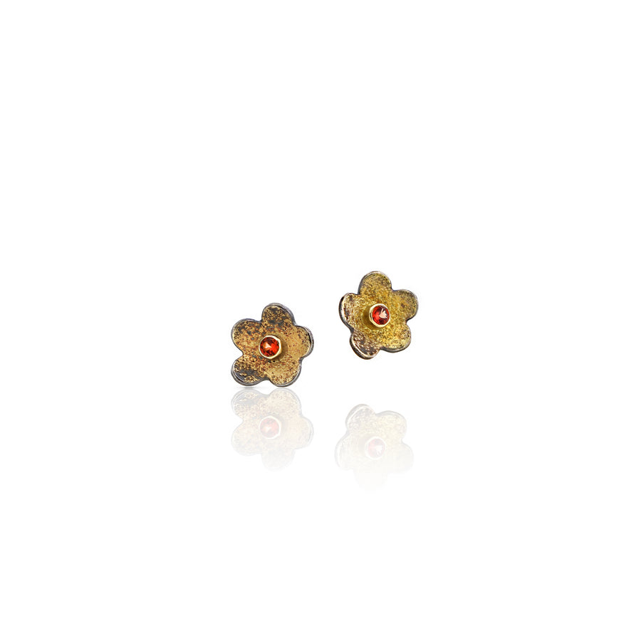 Small flower earring gold and silver