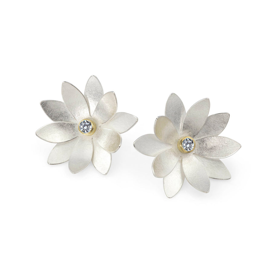 Large Lotus Post Earrings