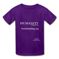 Humanity Magazine Kids' T-Shirt - purple